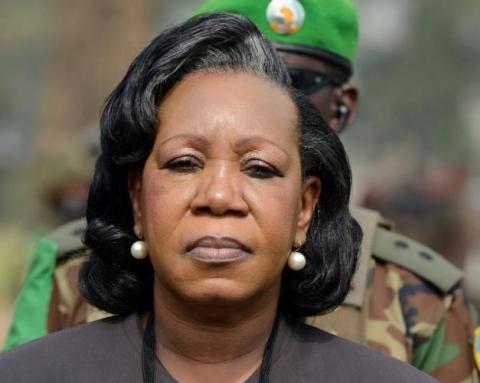 Catherine Samba-Panza, présidente centrafricaine. Crédit photo : Sources