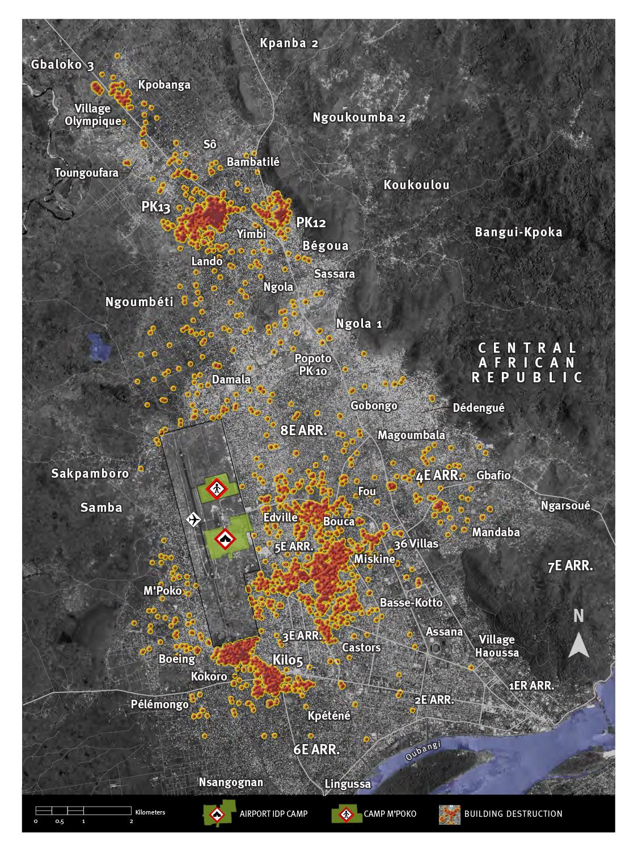 RCA : Des images satellites offrent une destruction systématique des quartiers musulmans