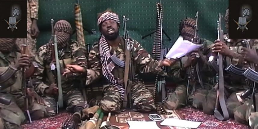 Déclaration du groupe Boko haram. Photo : HO / BOKO HARAM / AFP