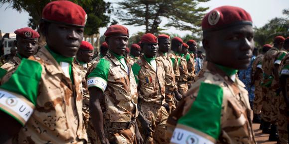 Des soldats de la MISCA en Centrafrique. Crédit photo : Sources