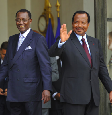 Idriss Déby et Paul Biya. Crédit photo : Sources