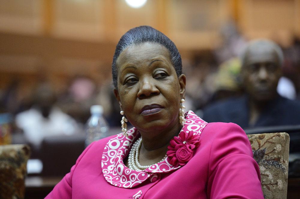 Catherine Samba-Panza à Bangui, le 20 janvier 2014 (ERIC FEFERBERG/AFP)