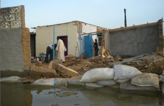 Des inondations à N'Djamena. Crédit photo : Journaldutchad