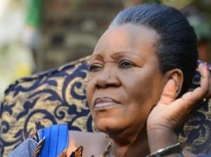 La Présidente de la Transition, Cathérine Samba Panza. Crédit photo : AFP