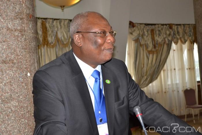 Martin Zigélé, Ancien premier ministre, et Président du Mouvement de Libération du peuple Centrafricain (MLPC) ici ce dimanche à Cotonou (ph S, koaci.com)