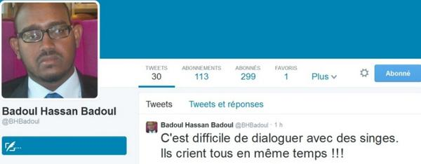 L'immaturité et l'irresponsabilité politique de Badoul Hassan Badoul -Secrétaire d'Etat à la Jeunesse et aux Sports - de la République De Djibouti.