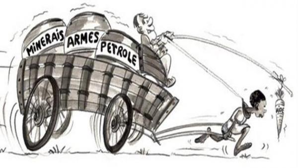 Caricature sur la Francafrique. Crédit photo : Sources