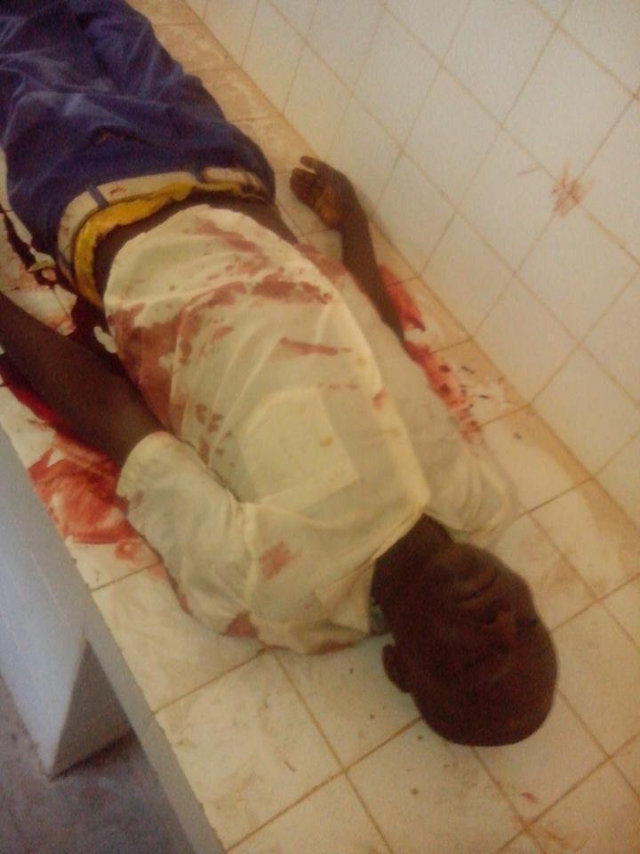 Le corps de la victime. Crédit photo : Ahmad Hassane Mohamad