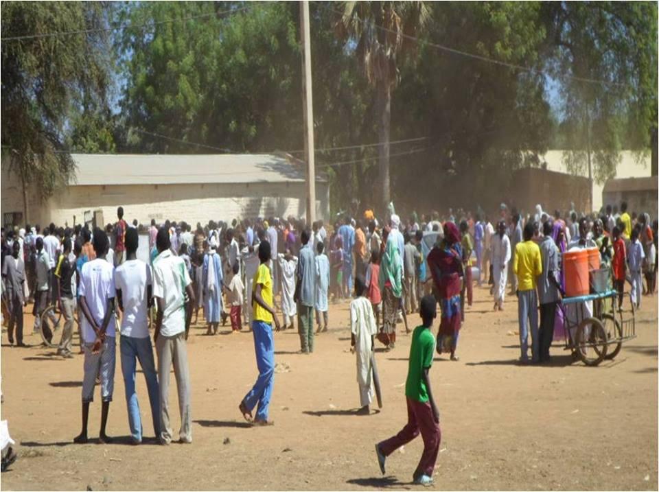 Tchad : Manifestation hier matin dans les rues d'Am Timan. Crédit photo :  Mahamat Abdelbanat Kourma