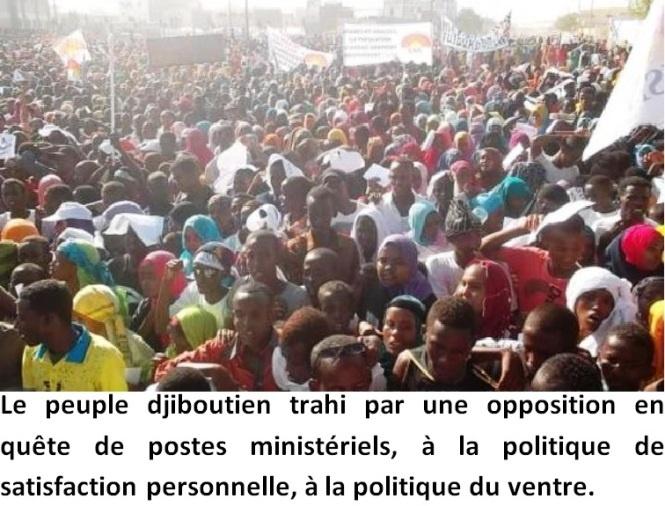 Djibouti : Le peuple crie sa colère contre la trahison de l'opposition.