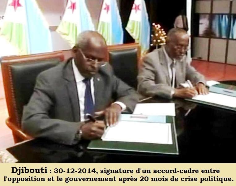 Djibouti : Analyse de l'Accord-cadre sur le dialogue politique entre Gouvernement opposition USN
