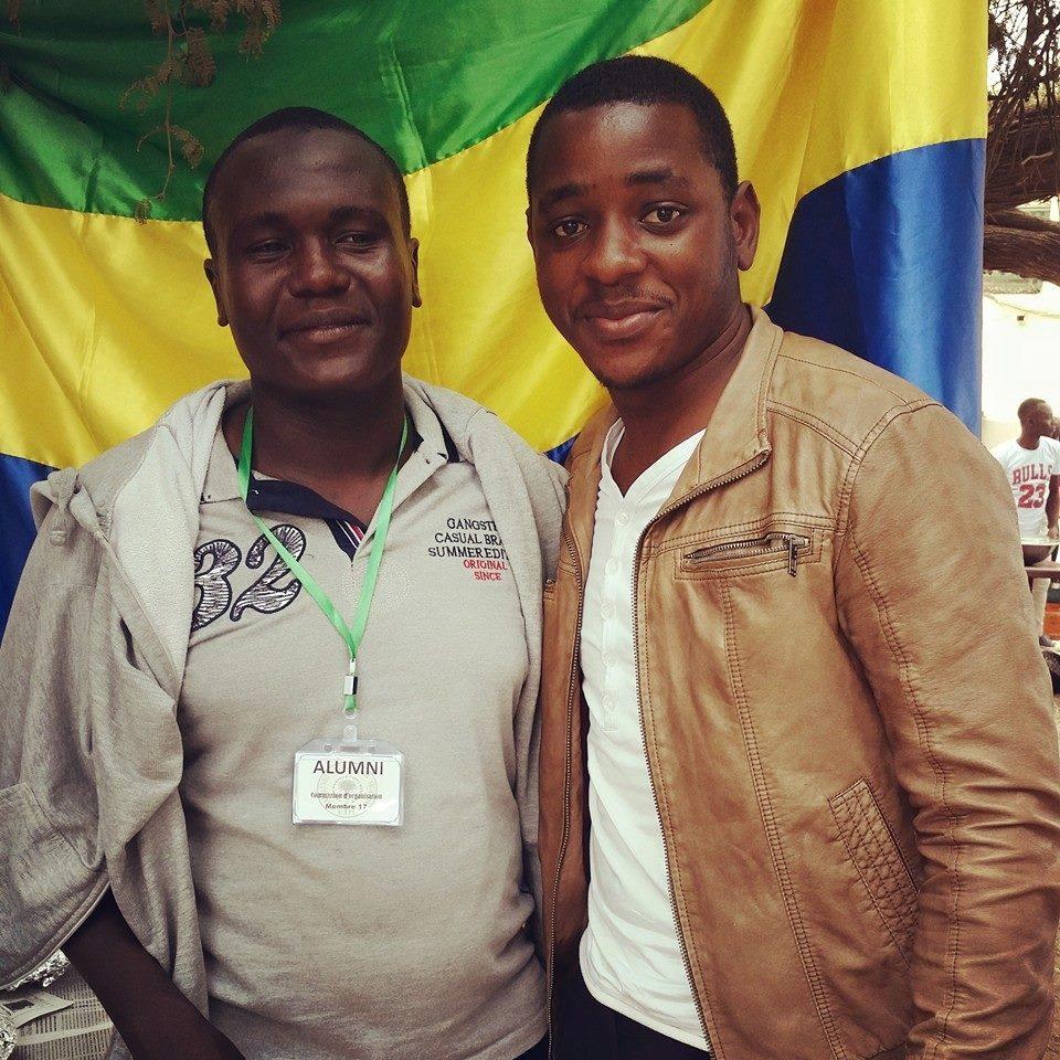 Le SG de l'Alumni, Mahamat Saleh Khidir (à gauche) et le Président de la Communauté gabonaise de l'université du Sahel, Valérie Ondo Lessa