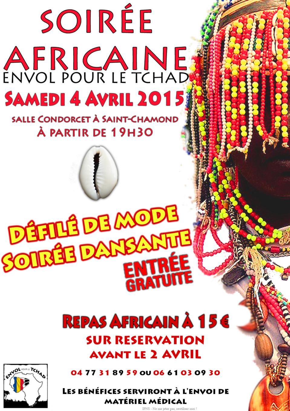 Invitation Soirée Tchadienne