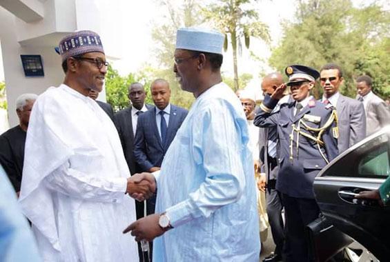 Le Président Buhari et son homologue tchadien Déby au Nigeria. Crédit photo : Sources