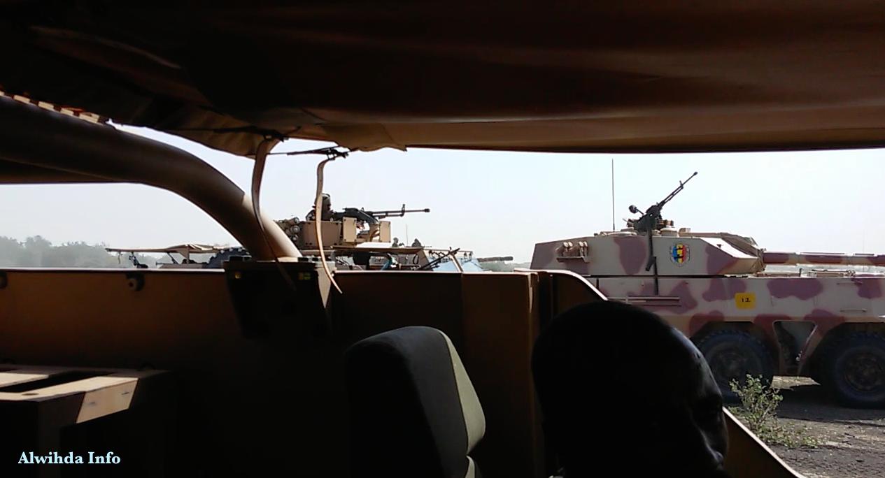 L'armée tchadienne lors d'une contre-attaque contre Boko Haram à la frontière entre le Cameroun et le Nigeria. Alwihda Info