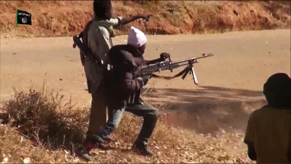 Des combattants du groupe terroriste Boko Haram.
