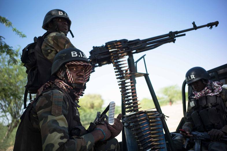 """Le Bataillon d'Intervention Rapide (Biir), une unité d'élite de l'armée camerounaise.  EDOUARD ELIAS/GETTY REPORTAGE POUR """"LE MONDE"""""""