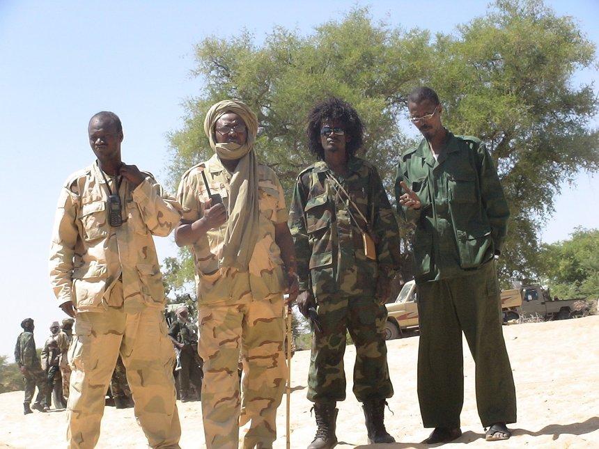Rebelles du CMU à l'entrée d'Oum Hadjer