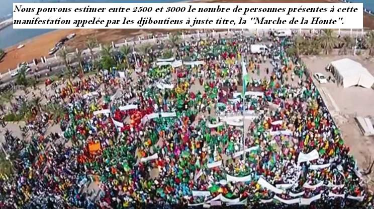 DJIBOUTI : LA MARCHE FORCÉE DU 01 NOVEMBRE 2015.