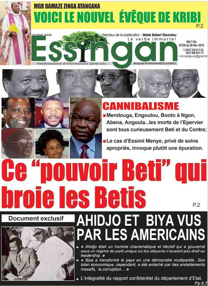 Cameroun :Les « Bétis » menacés  d'extinction