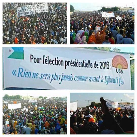 """DJIBOUTI : 20 novembre 2015, la """"marche citoyenne"""" pour contre balancer sur celle de la """"honte""""."""