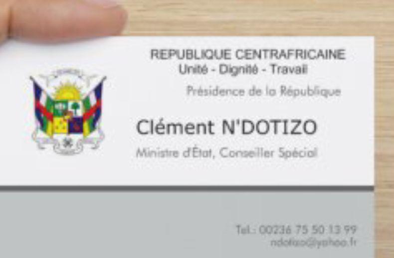 Quand Clément N'dotizo usurpe le titre de Ministre d'État!