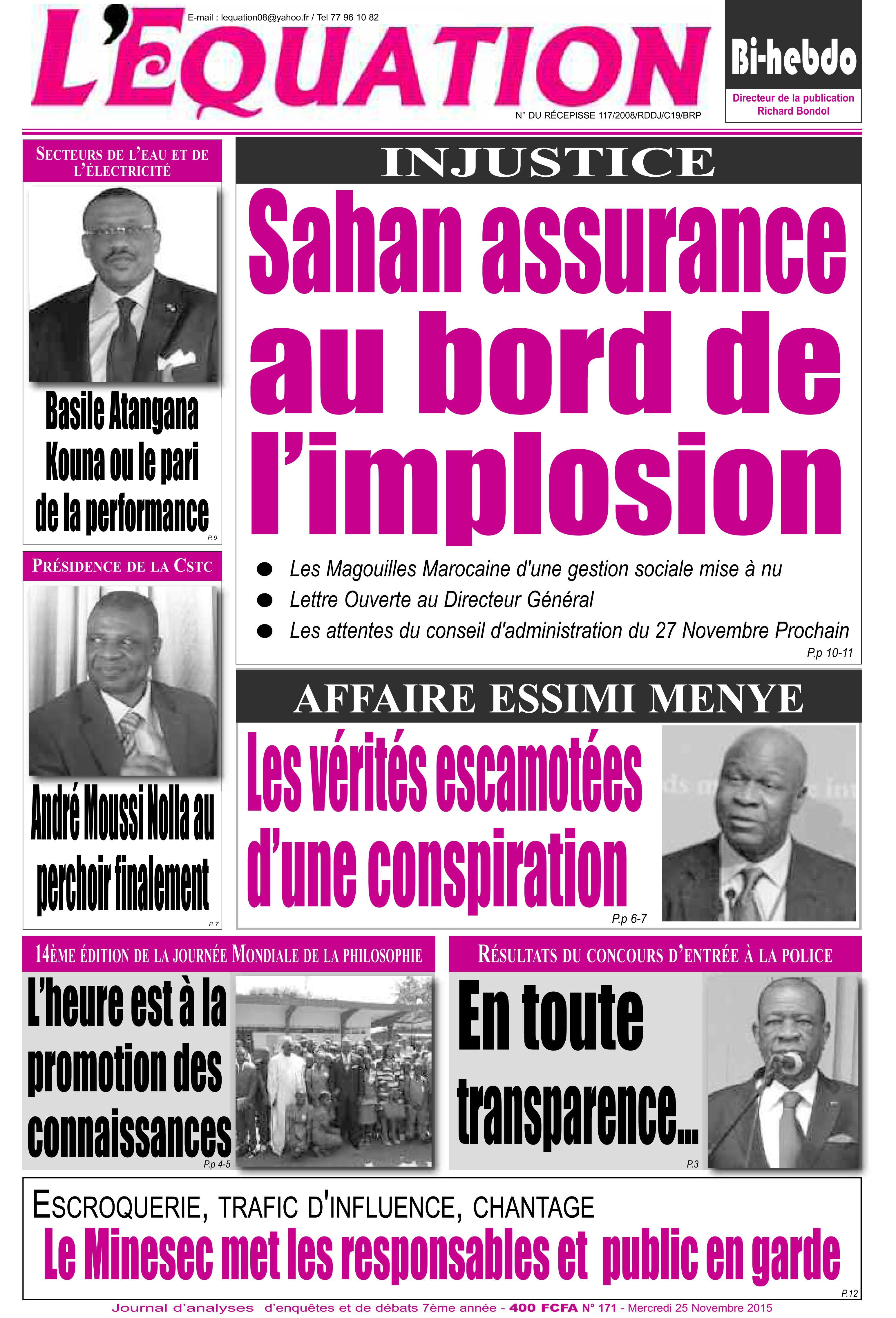 Cameroun:Les vérités qu'on refuse de dire sur l'affaire Essimi Menye