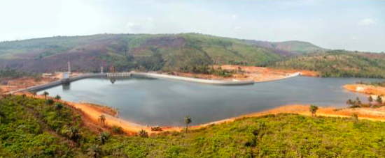 the Guinea Kaleta hydropower station
