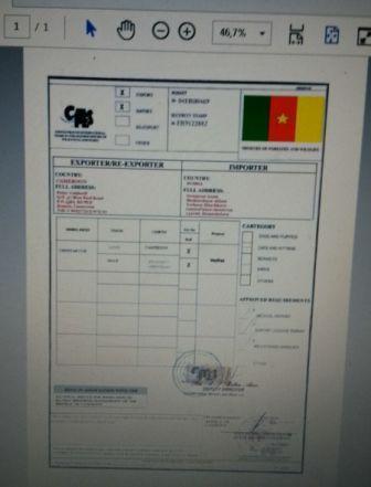 Le document falsifié utilisé par les trafiquants.