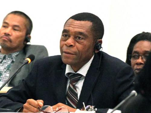 Le coordonnateur national du programme Agropoles, Adrian Ngo'o Bitomo.