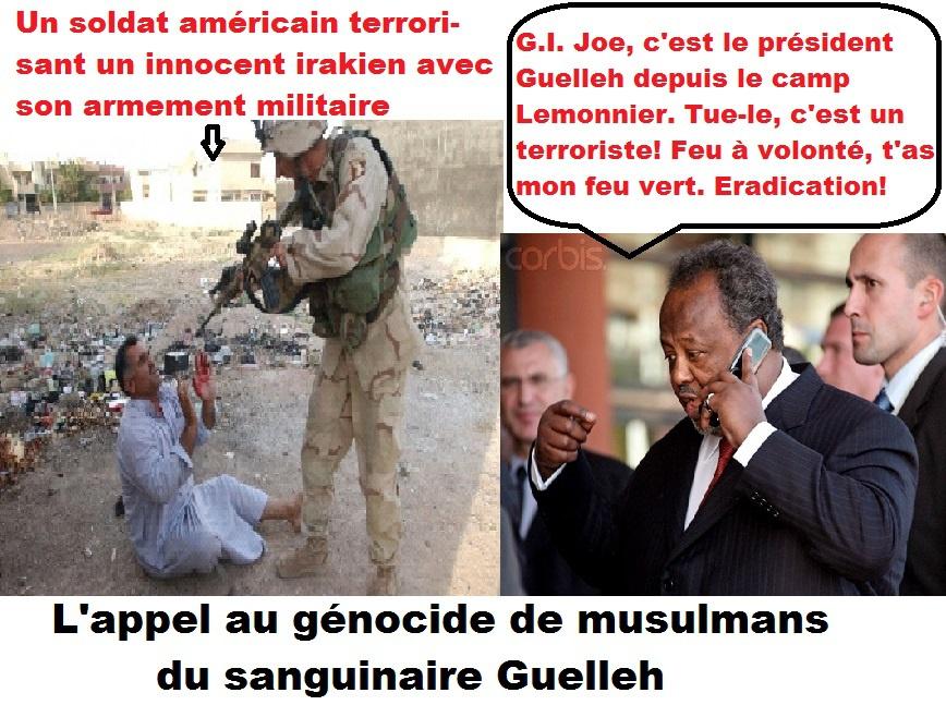 """Dans son message de condoléances à Obama, le dictateur djiboutien préconise """"l'éradication définitive"""" de musulmans"""
