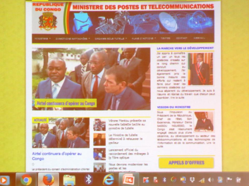 NTIC au Congo : Le ministère des postes et télécommunication met en ligne son site web