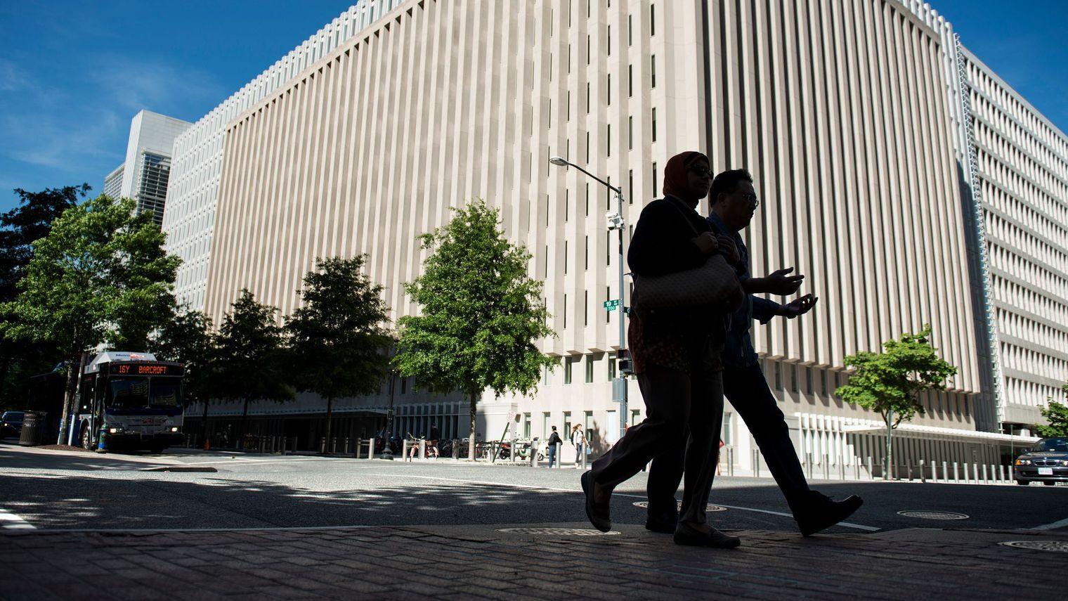Locaux de la Banque mondiale. afp.com/BRENDAN SMIALOWSKI