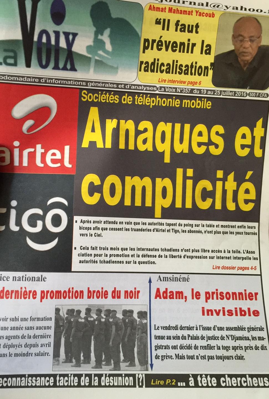 """""""Il faut prévenir l'extrémisme"""", Ahmat Yacoub Dabio, interview au journal La Voix"""
