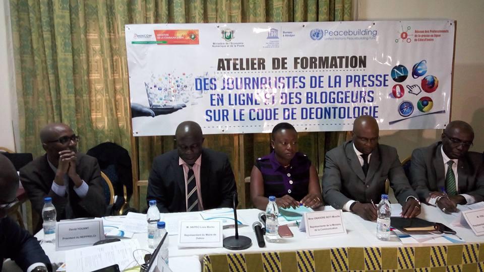 Presse en ligne en Côte d'Ivoire : 35 web-journalistes et bloggeurs se forment au Code de déontologie