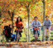 Photo taken on Oct. 26, 2017 shows three students riding shared bikes in Xiangyang, Hubei province. (Photo by Yang Dong from CFP)