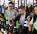 Buyers taste wine exhibited in the Food and Agricultural Products exhibition area of the 2nd CIIE on Nov. 9, 2019. Photo by Weng Qiyu/People's Daily Online
