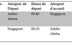 Ethiopian va commencer ses vols directs, sans escale vers Singapour