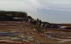 Capture d'écran de la vidéo filmée par un téléphone portable.