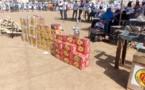 Des dons remis par la fondation grand coeur aux populations d'Abougoudam. Alwihda Info/D.H.