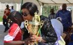 Sport et loisirs au Congo : Georgette Okemba , marraine du 1er tournoi de Nzango des orphelinats de Brazzaville