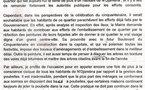 Mme Le Maire demande la réfection des peintures et façades des maisons