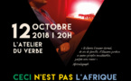 Jann Halexander 'Ceci n'est pas l'Afrique' le 12 octobre à l'Atelier du Verbe à Paris
