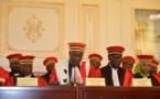 Les membres de la Cour suprême ce mardi 22 janvier 2019 au Palais présidentiel, à N'Djamena. ©
