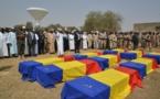 Une cérémonie funèbre des militaires tchadiens tombés au Mali dans la sobriété