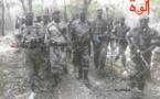 Les combattants du FDPC autour du Général Abdoulaye Miskine. 5 avril 2013. © Alwihda Info