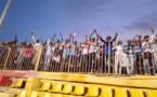 Des supporteurs tchadiens au stade de Khartoum, mardi 10 septembre 2019. © Alwihda Info