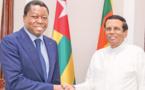 Le renforcement de l'axe Colombo-Lomé au menu de la visite de Faure Gnassingbé au Sri Lanka