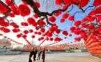 Chinese prepare celebrating the Chinese New Year