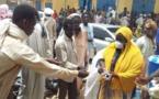 Tchad : au marché d'Ati, distribution de masques offerts par un ministre